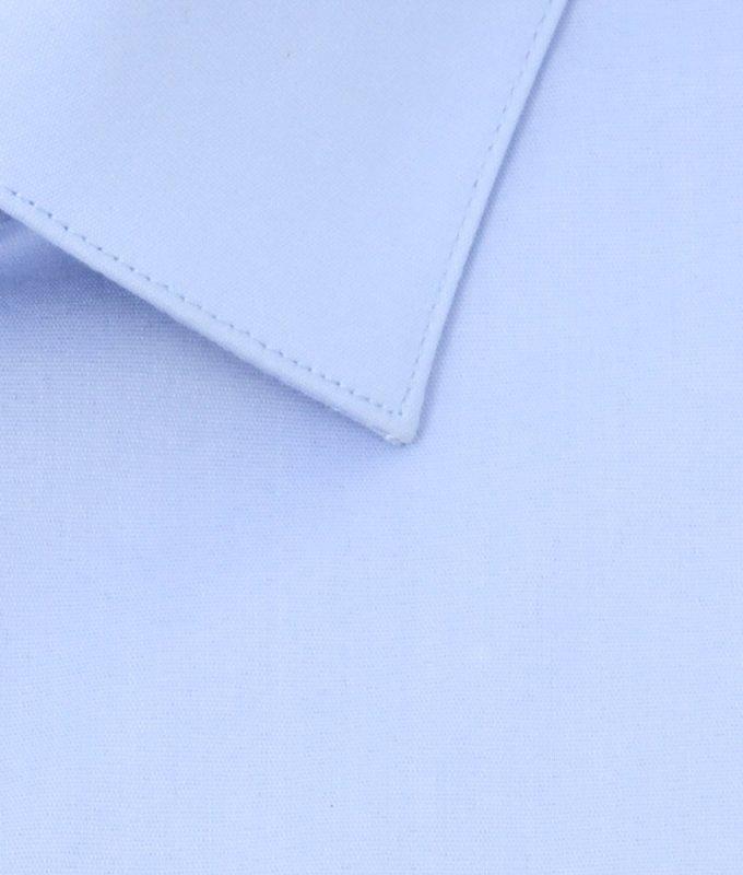 Рубашка Berlot голубая, однотонная, классический силуэт, длинный рукав