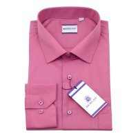 Рубашка Berlot розовая, однотонная, классический силуэт