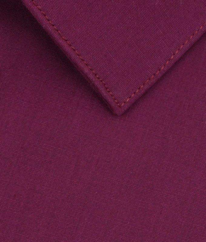 Рубашка Berlot бордовая, однотонная, классический силуэт