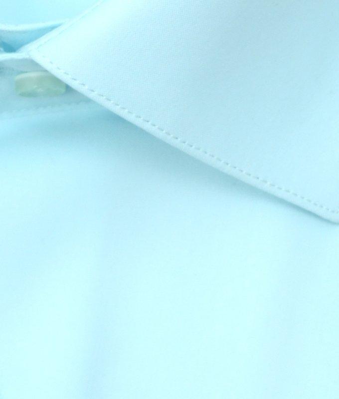 Рубашка Berlot бирюзовая, однотонная, классический силуэт