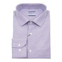 Рубашка Berlot фиолетовая, в полоску, классический силуэт