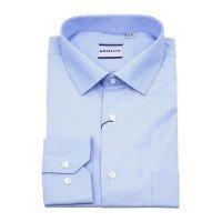 Рубашка Berlot голубая, мелкий орнамент, классический силуэт