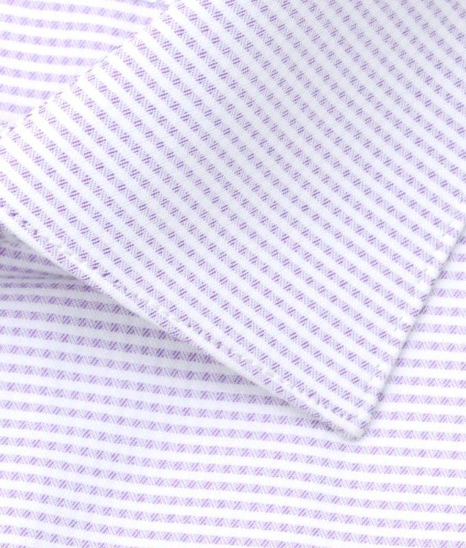 Рубашка Berlot сиреневая, в клетку, классический силуэт