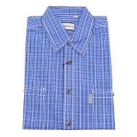 Рубашка Berlot синяя, в клетку, классический силуэт