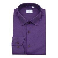 Рубашка Berlot фиолетовая, мелкий орнамент, приталенный силуэт