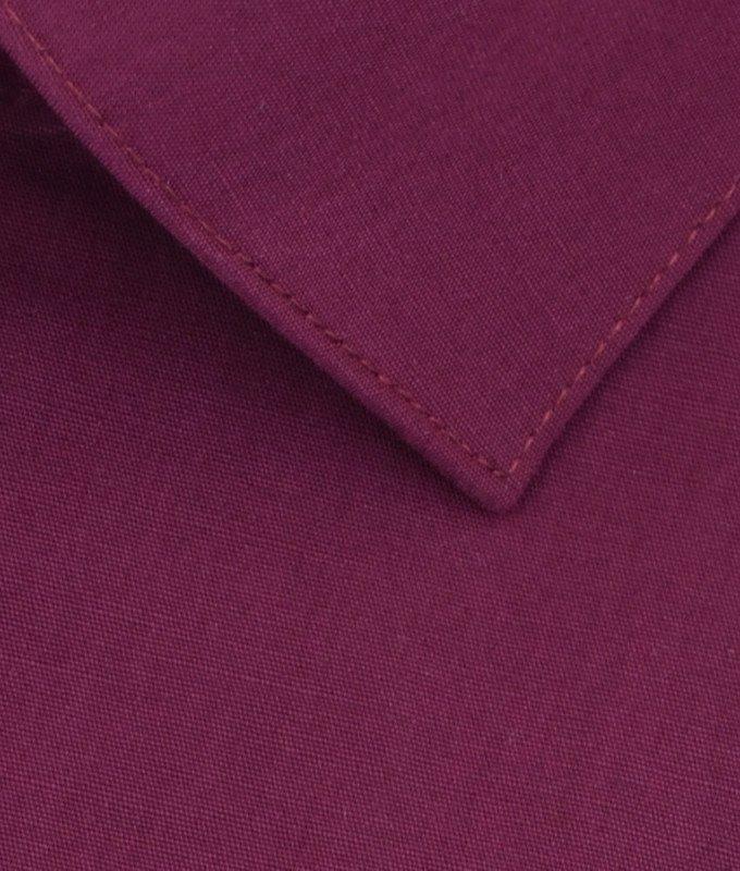 Рубашка Berlot бордовая, однотонная, приталенный силуэт, длинный рукав