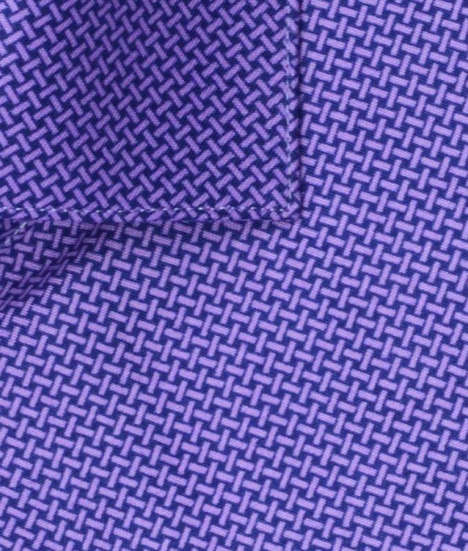 Рубашка Berlot фиолетовая, мелкий орнамент, очень приталенный силуэт