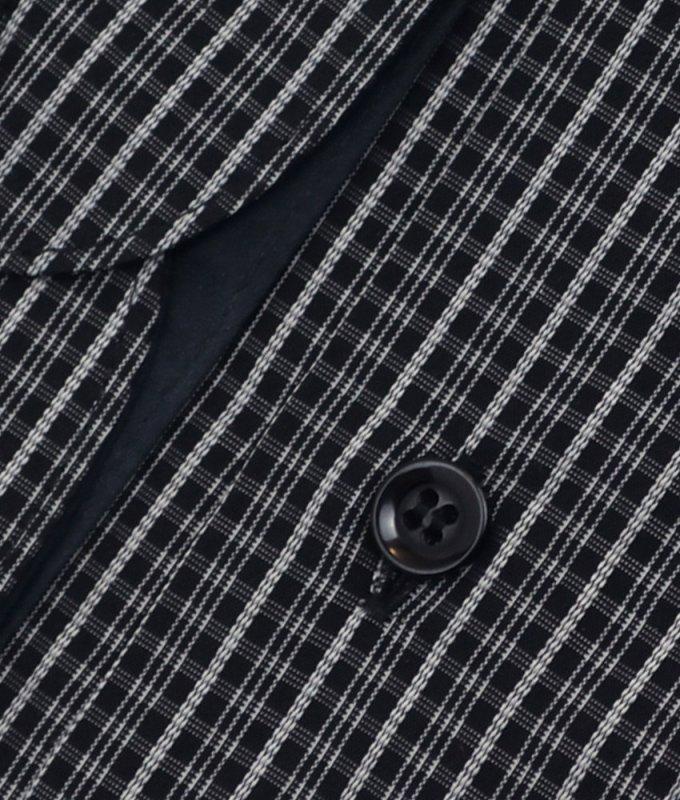 Рубашка Casino черная, с узором, приталенный силуэт