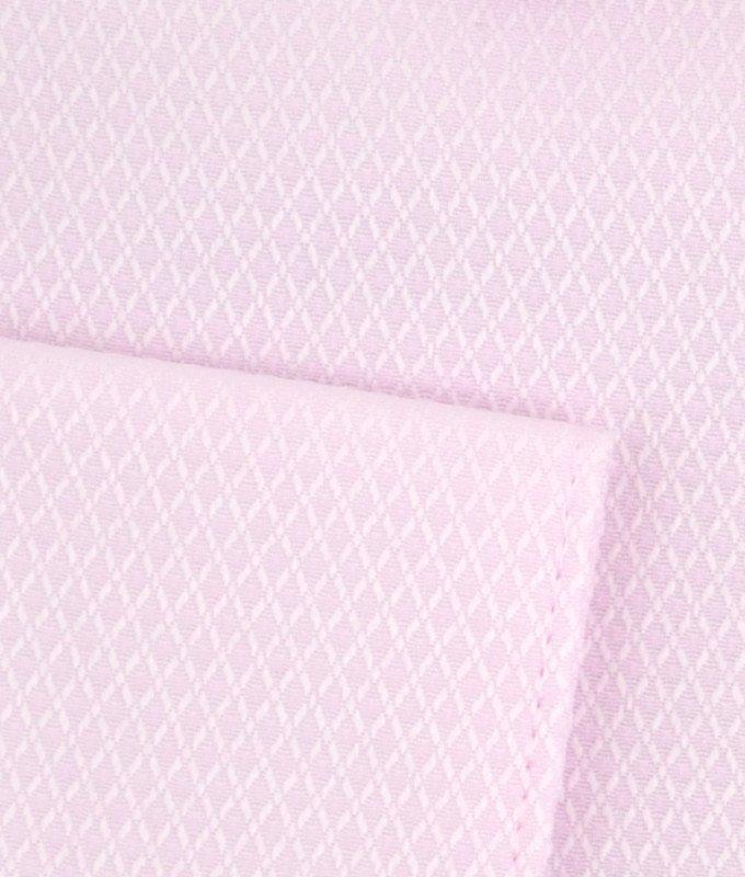 Рубашка Casino розовая, однотонная, приталенный силуэт, длинный рукав