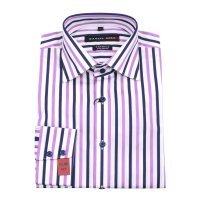 Рубашка Daniel Hill фиолетовая, в полоску, приталенный силуэт