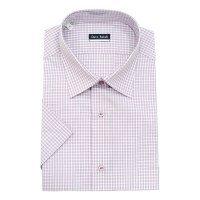Рубашка Dave Raball розовая, в клетку, классический силуэт