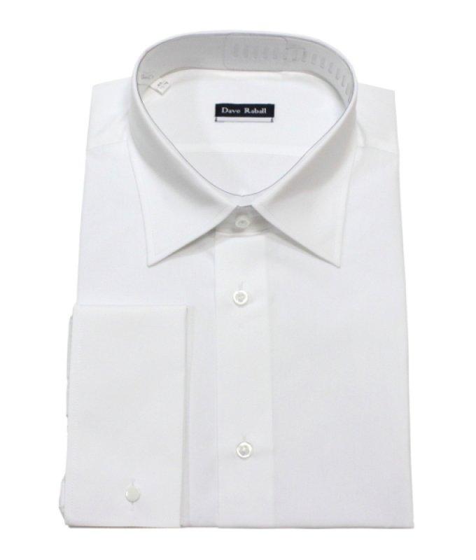 Рубашка Dave Raball белая, однотонная, классический силуэт