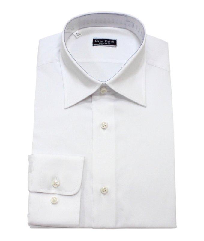 Рубашка Dave Raball белая, однотонная, приталенный силуэт