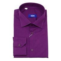 Рубашка Elita красно-фиолетовая, однотонная, приталенный силуэт