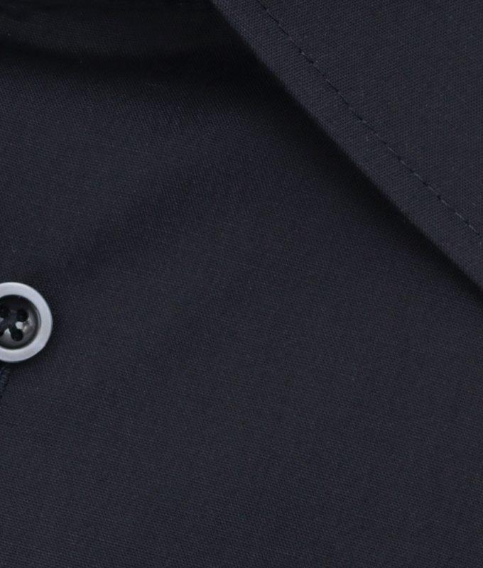 Рубашка Elita черная, однотонная, классический силуэт, длинный рукав