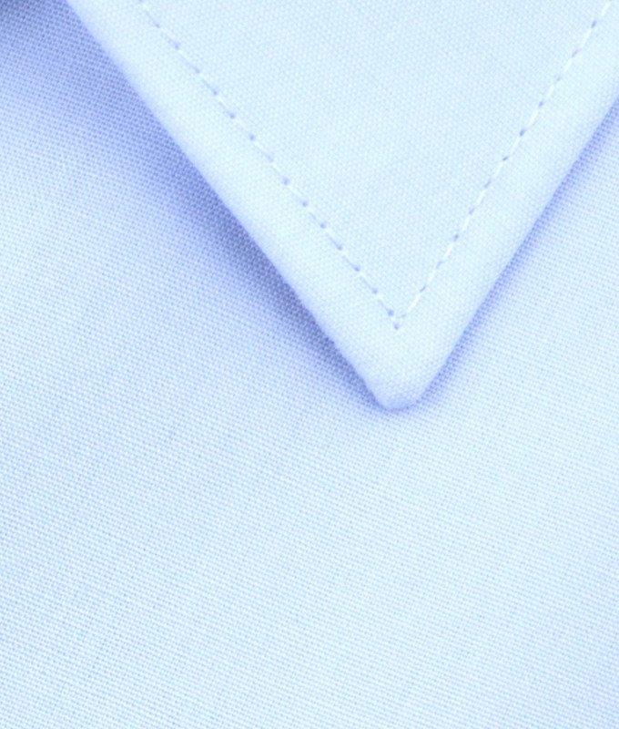 Рубашка Elita голубая, однотонная, классический силуэт, короткий рукав