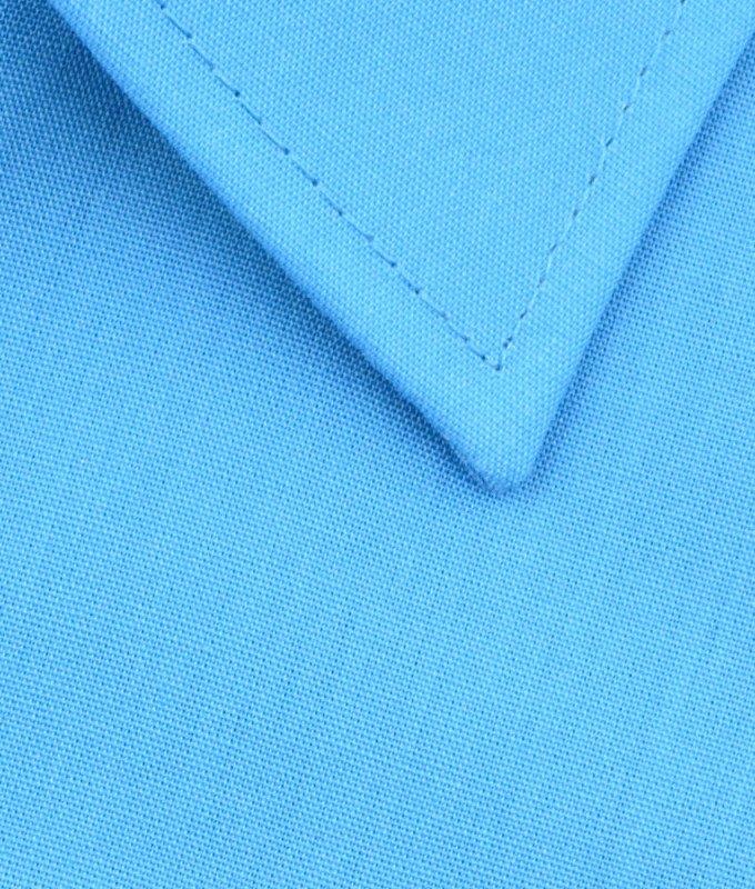 Рубашка Elita небесно-голубая, однотонная, классический силуэт, короткий рукав
