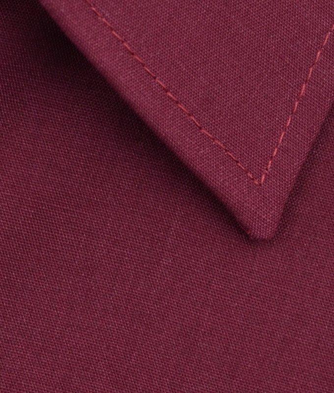 Рубашка Elita бордовая, однотонная, классический силуэт, короткий рукав