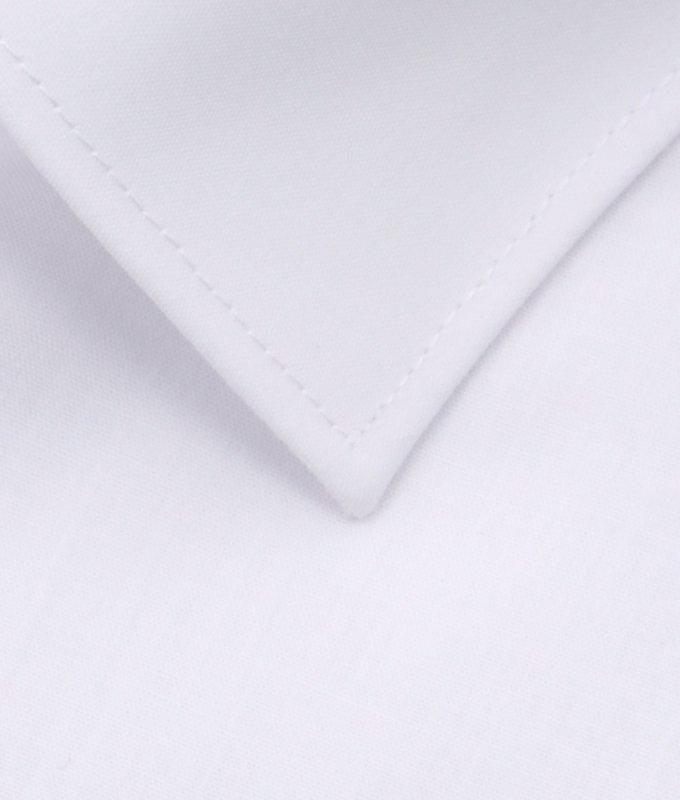 Рубашка Elita белая, однотонная, приталенный силуэт, короткий рукав