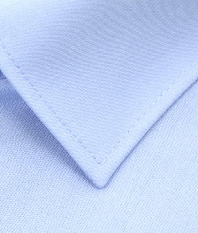 Рубашка Elita голубая, однотонная, короткий рукав