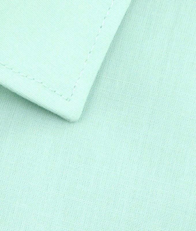 Рубашка Elita зеленая, однотонная, приталенный силуэт, короткий рукав