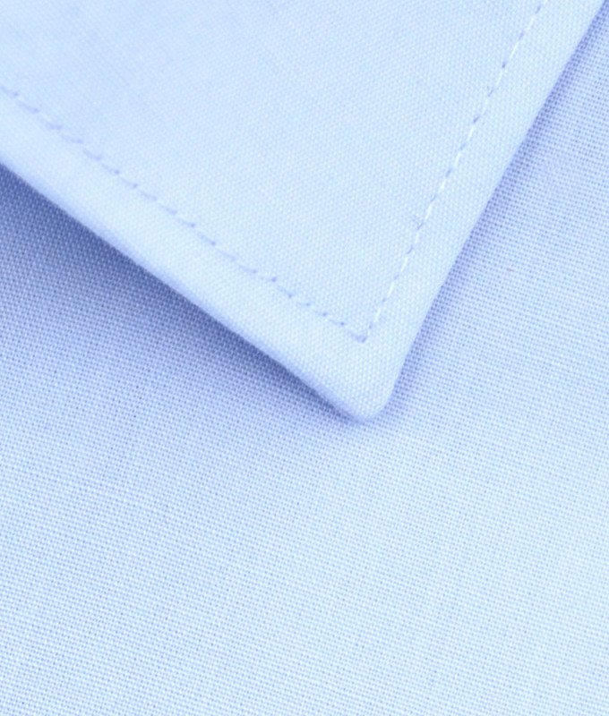 Рубашка Elita голубая, однотонная, приталенный силуэт, короткий рукав