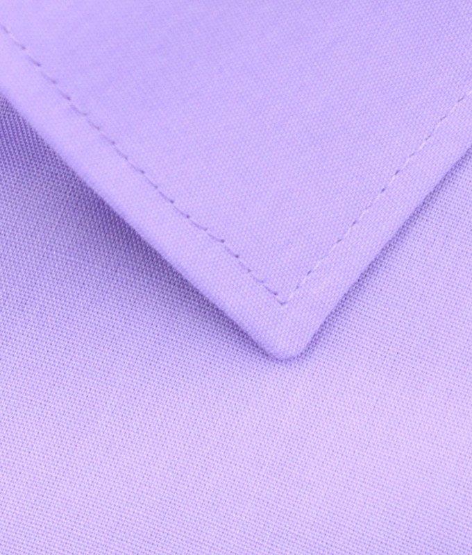 Рубашка Elita сиреневая, однотонная, приталенный силуэт, короткий рукав