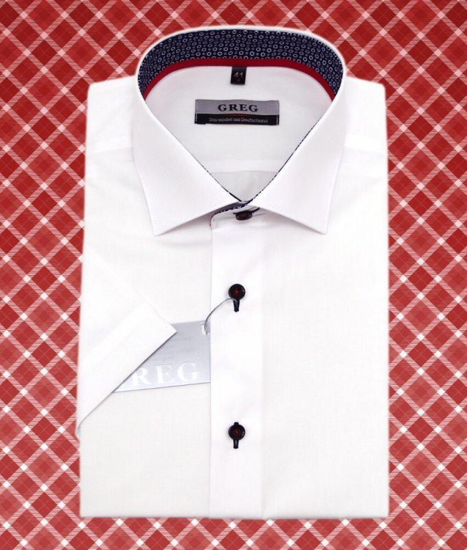 Рубашка Greg белая, однотонная, приталенный силуэт