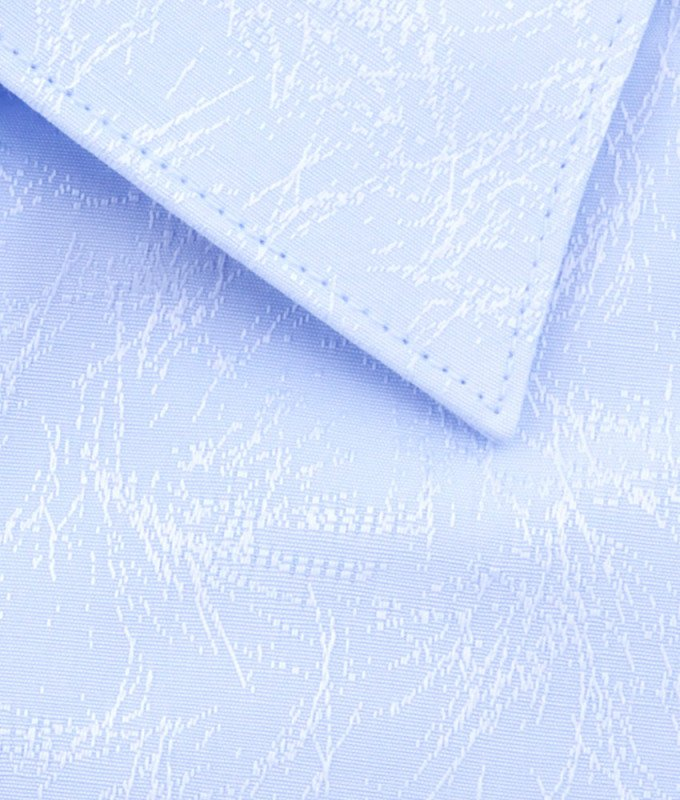 Рубашка Greg голубая, с узором, приталенный силуэт, длинный рукав
