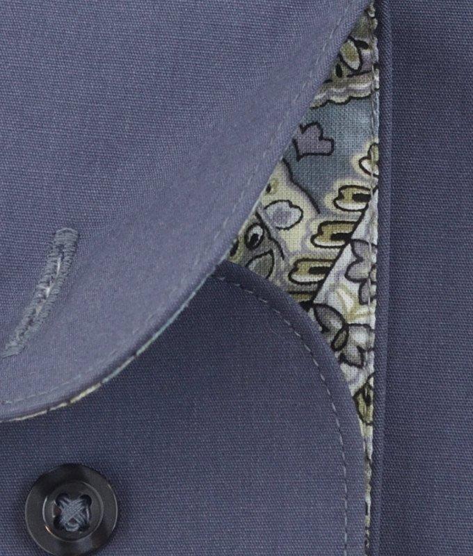 Рубашка Greg серая, однотонная, приталенный силуэт, длинный рукав