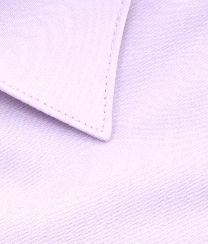 Рубашка Greg розовая, однотонная, приталенный силуэт, длинный рукав
