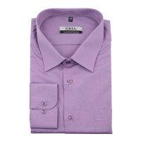 Рубашка Greg сиреневая, однотонная, классический силуэт, длинный рукав