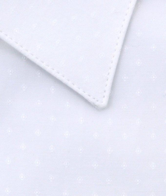 Рубашка Greg белая, мелкий орнамент, приталенный силуэт, длинный рукав