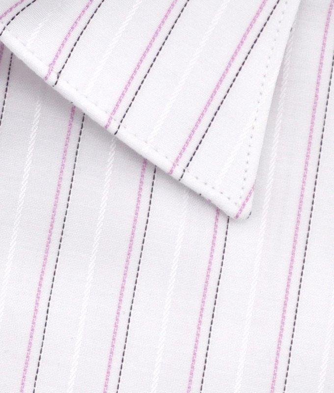 Рубашка Greg белая, в полоску, приталенный силуэт, длинный рукав