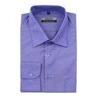 Рубашка Greg фиолетовая, мелкий орнамент, приталенный силуэт, длинный рукав