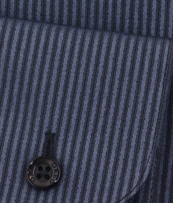 Рубашка Greg серая, в полоску, приталенный силуэт, длинный рукав
