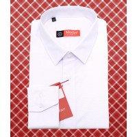 Рубашка Vester белая, однотонная, приталенный силуэт