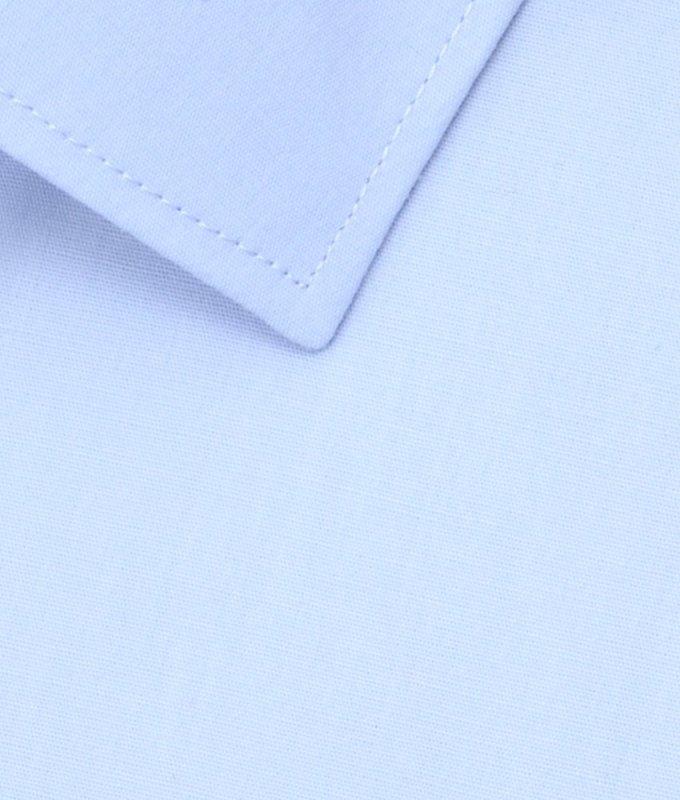 Рубашка Vester голубая, однотонная, классический силуэт