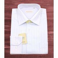 Рубашка Vinzo Vista серая, с узором, классический силуэт