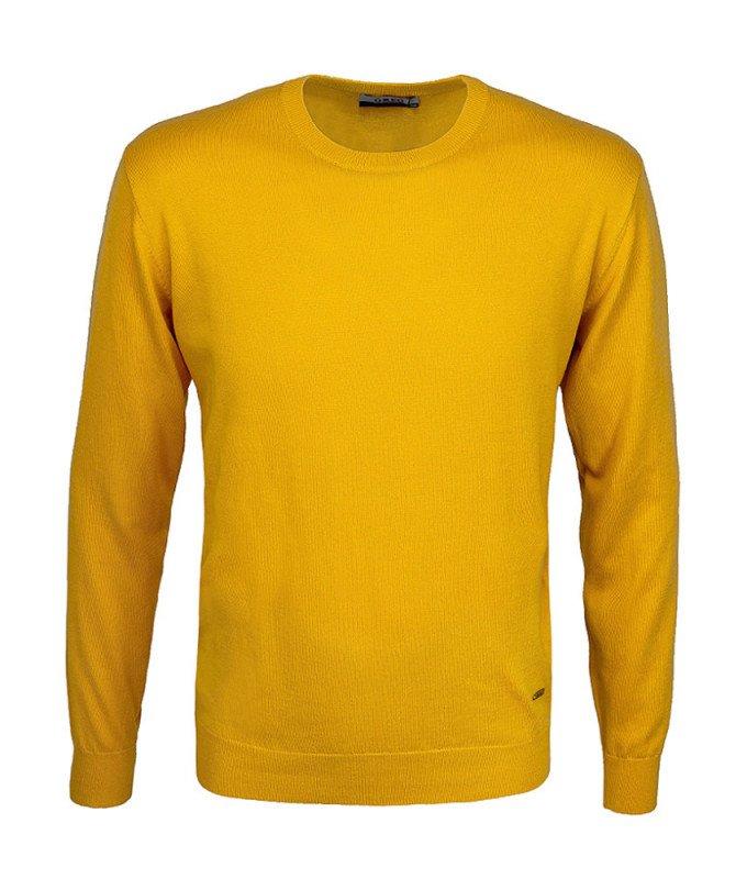 Джемпер Greg желтый, однотонный