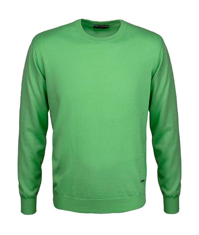 Джемпер Greg зеленый, однотонный