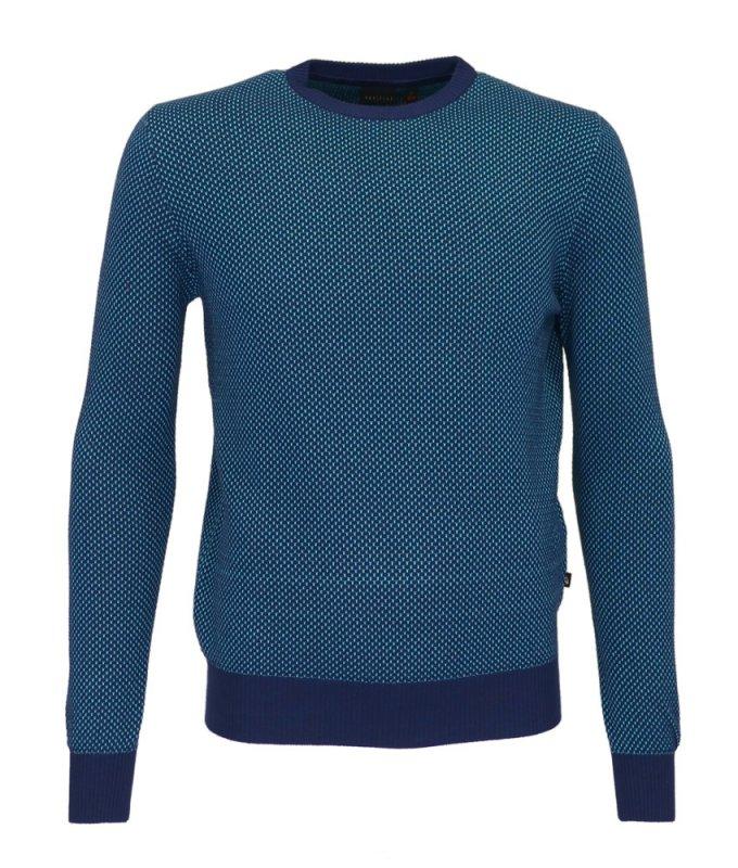 Джемпер Grostyle синий, мелкий орнамент
