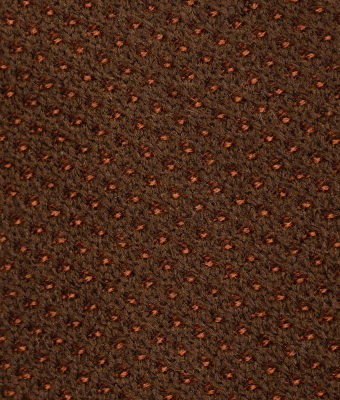 Кардиган Ruslantex коричневый, мелкий орнамент