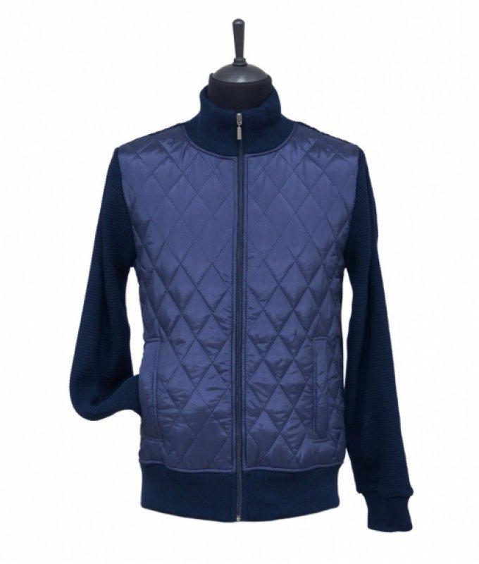 Куртка-бомбер Carson синий, однотонный
