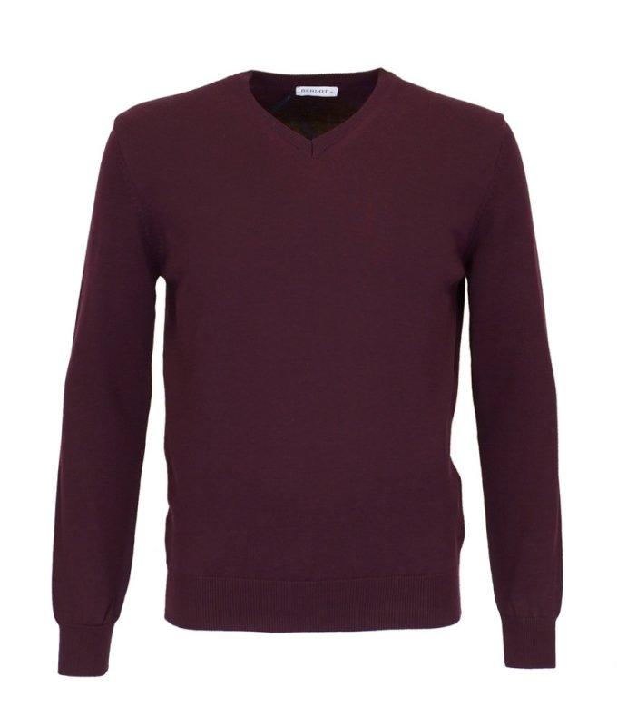 Пуловер Berlot бордовый, однотонный