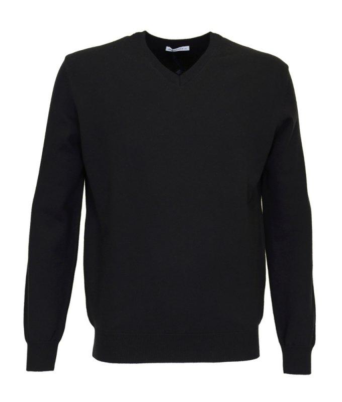 Пуловер Berlot черный, однотонный