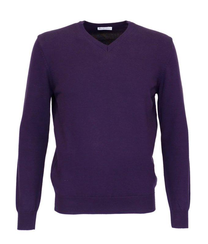 Пуловер Berlot фиолетовый, однотонный