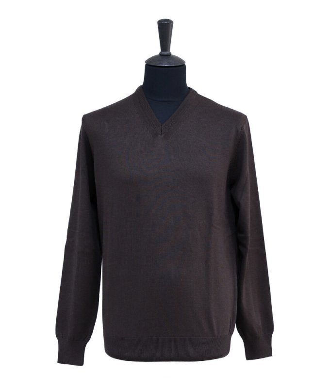 Пуловер Berlot коричневый, однотонный
