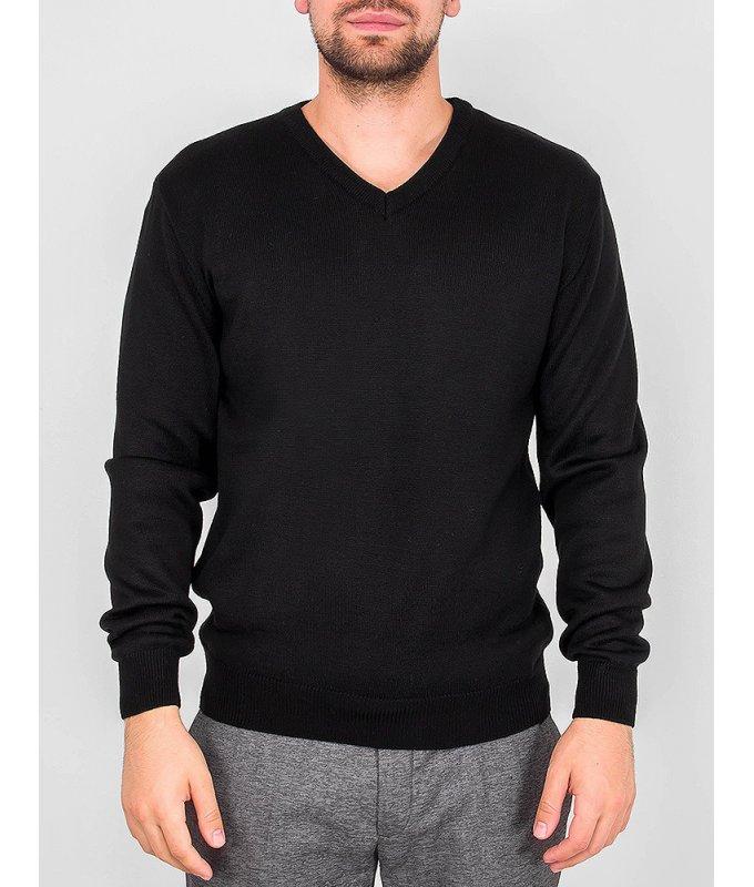 Пуловер Casino черный, однотонный