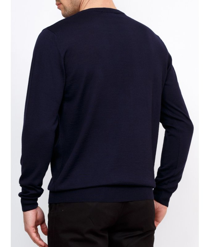 Пуловер Greg синий, однотонный